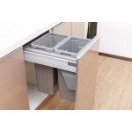 MD45-27GR Double Waste Bins with Soft Closing
