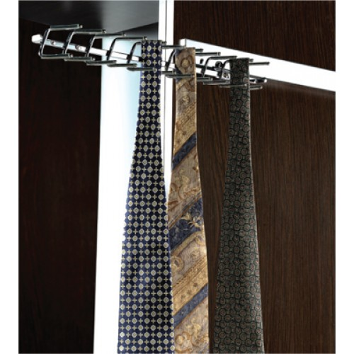 """Deluxe 14"""" Pull Out Tie Rack"""